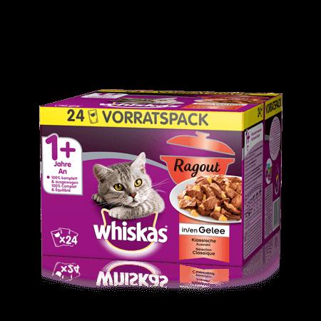 Whiskas Ragout in Gelée Klassische Auswahl 24x85g