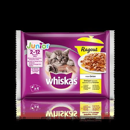 Whiskas Ragout Junior Geflügel Auswahl