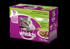 Whiskas<sup>®</sup> 1+ Fisch & Fleisch Auswahl in Gelée