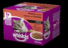 Whiskas<sup>®</sup> Fleisch Auswahl in Sauce
