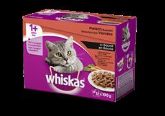 Whiskas® 1+ Fleisch Auswahl in Sauce