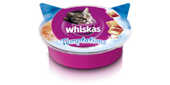 Whiskas<sup>®</sup> Temptations mit Lachs