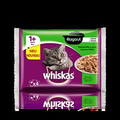 Whiskas<sup>®</sup> Ragout in Gelée Gemischte Auswahl 4x85g