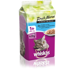 Whiskas® Fresh Menue Fisch Auswahl in Sauce