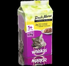 Whiskas® Fresh Menue Geflügel Auswahl in Sauce