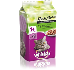 Whiskas<sup>®</sup> Fresh Menue Mixed Auswahl in Sauce