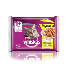 Whiskas® Ragout in Gelée Geflügel Auswahl 4x85g