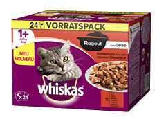 Whiskas® Ragout in Gelée Klassische Auswahl 24x85g