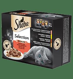 Sheba® Selection in Sauce kapsičky pro kočky Šťavnatý výběr v omáčce