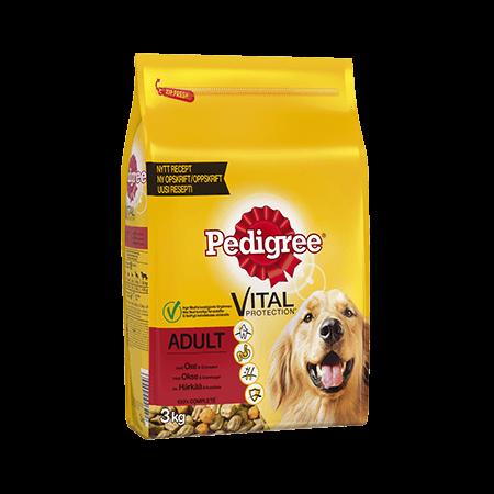 PEDIGREE®<sup>®</sup> Vital Protection Adult med Oksekød 3kg