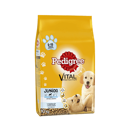 Pedigree<sup>®</sup> Vital Protection Junior med Kylling 10kg