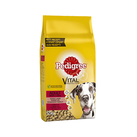 PEDIGREE<sup>®</sup> Vital Protection Adult Maxi >25kg med Okse