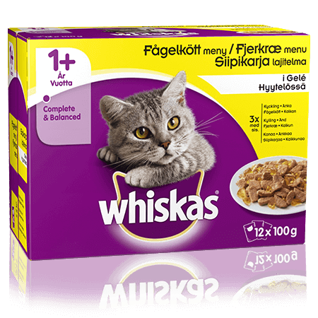Whiskas® 1+ Fjerkræmenu i Gelé