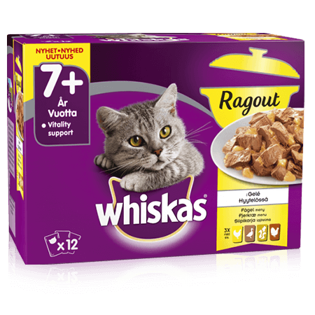 Whiskas® 7+ Ragout Fjærkræ Menu
