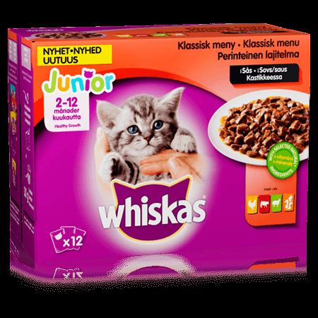 Whiskas® Junior Kødmenu i Sovs