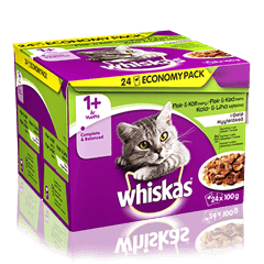 Whiskas® 1+ Fisk- & Kødmenu i Gelé