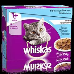 Whiskas® 1+ Fiskemenu i Gelé
