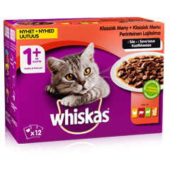 Whiskas® 1+ Klassisk menu i sovs