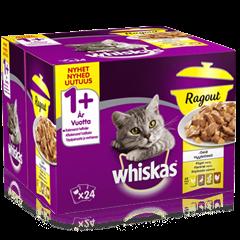 Whiskas® 1+ Ragout Fjerkræ menu 24 pack