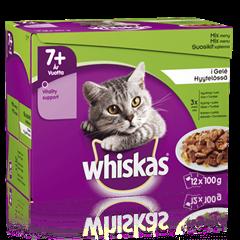 Whiskas® 7+ Fisk- & Kødmenu i Gelé