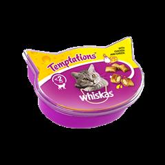 Whiskas® Temptation  godbidder med Kylling & Ost
