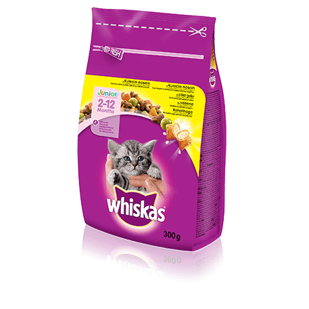 Whiskas Junior kuivtoit kanalihaga