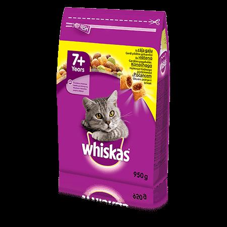 Whiskas 7+ kuivtoit kanalihaga