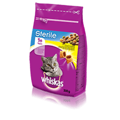Whiskas<sup>®</sup> Sterile kuivtoit kanalihaga