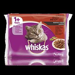 Whiskas 1+ kiisueine 4-pakk Lihavalik