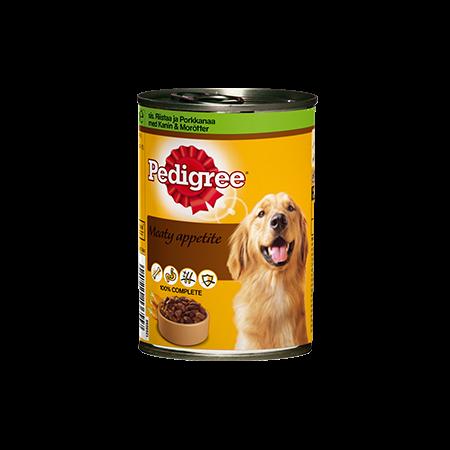 Pedigree® Meaty Apetite Riistaa ja Porkkanaa 400g