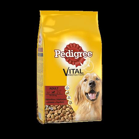 Pedigree® Vital Protection Adult Härkää ja Siipikarjaa 7kg