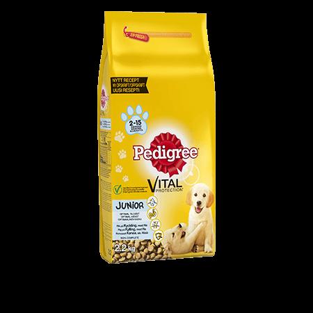 Pedigree® Vital Protection™ Junior Kanaa sis. Riisiä 2,2kg