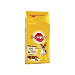 PEDIGREE® Mini <10kg Kanaa ja Kasviksia