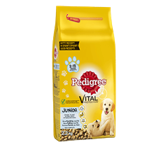 PEDIGREE® Vital Protection™ Junior Kanaa sis. Riisiä 2,2kg