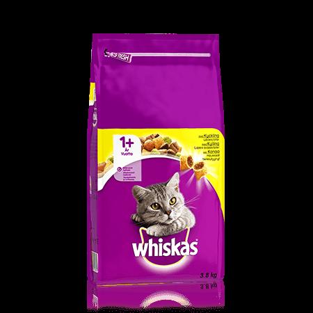 Whiskas® 1+ Kanaa 3,8kg