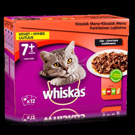 Whiskas® 7+ Lihalajitelma Kastikkeessa 12x100g