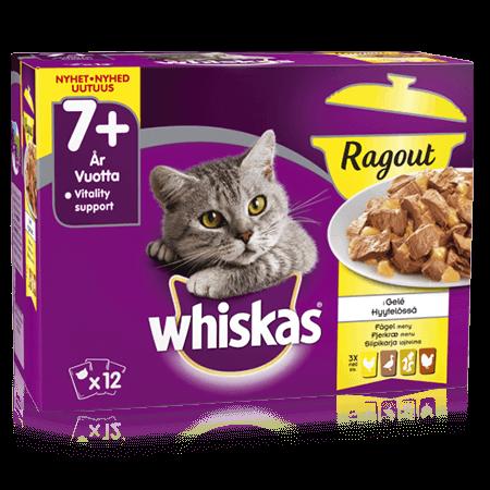 Whiskas® 7+ Ragout Siipikarja Hyytelössä