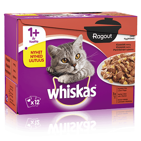 Whiskas AMMP Ragout Klassisk Menu