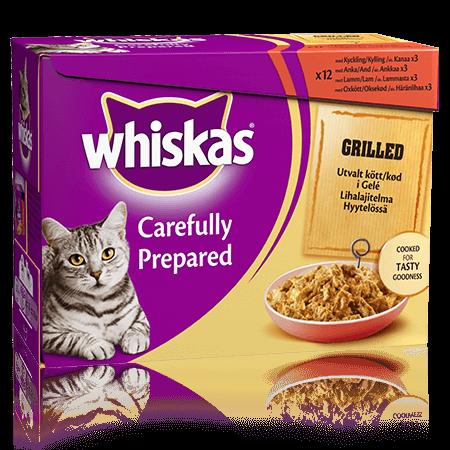 Whiskas® Grillattua Lihaa Hyytelö 12x85g
