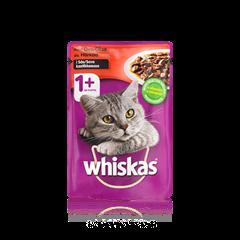 Whiskas® 1+ Härkää  Kastikkeessa