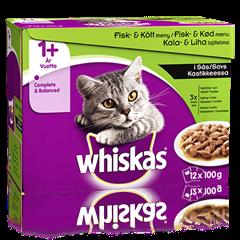 Whiskas® 1+ Kala&Lihalajitelma Kastikkeessa 12x100g
