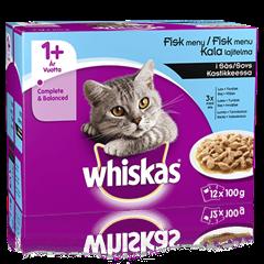 Whiskas® 1+ Kalalajitelma Kastikkeessa 12x100g