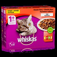 Whiskas® 1+ Perinteinen lajitelma Hyytelössä 12x100g
