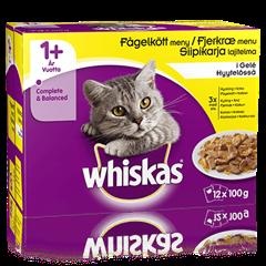 Whiskas® 1+ Siipikarja Hyytelössä 12x100g