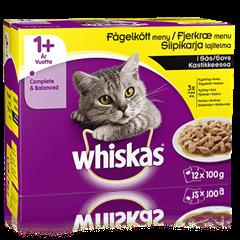 Whiskas® 1+ Siipikarja Kastikkeessa 12x100g