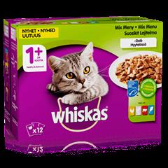 Whiskas® 1+ Suosikit lajitelma Hyytelössä