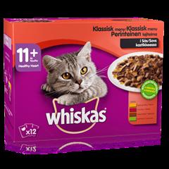 Whiskas® 11+ Perinteinen lajitelma kastikkeessa