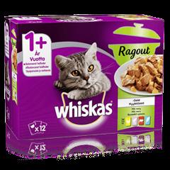 Whiskas® 1+ Ragout Suosikit lajitelma hyytelössä