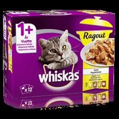 Whiskas® 1+ Ragout Siipikarjalajitelma hyytelössä 12x85g