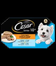 CESAR® Senior 10+ Barquettes en gelée 4 variétés 4x150g